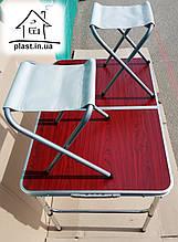 Стол раскладной(90*60) +2 стула раскладных