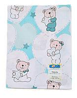 Пеленки для новорожденных ситцевая 100х80см / Пеленки для новонароджених ситцева 100х80см