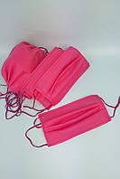 Маска розовая одноразовая двухслойная бытовая