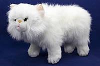 Мягкая игрушка кошка, белая, 36 см, (IPD-116C-14)