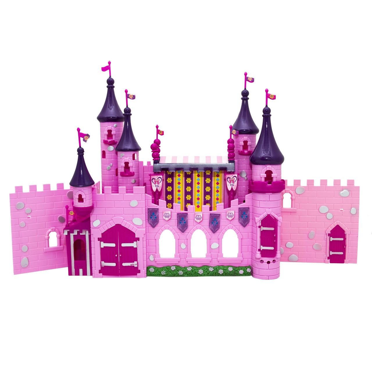 """Набор кукольный домик """"Замок"""" с мебелью и фигурками, розовый, 57,5х11,5х40 см (16647)"""