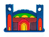 Nic Конструктор деревянный - Все в замке (синий)