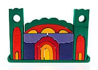 Конструктор деревянный Nic Все в замке зеленый (NIC523269)