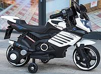 Детский электромотоцикл музыкальный Minimoto LQ 158 белый