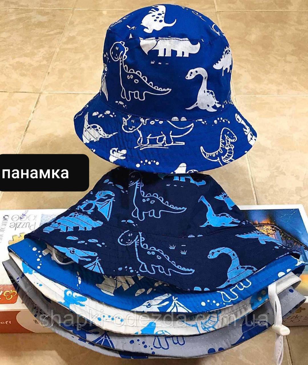 Панама для мальчика динозаврики  р-ры 54-56