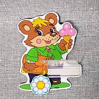 Стенд для рисунка и поделки Медвежонок с мороженым