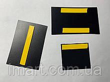 Ценник меловой наклейка 3х4 см. Для надписей мелом и маркером. Грифельная.Табличка двухсторонняя