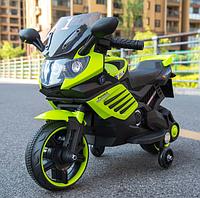 Детский электромотоцикл музыкальный Minimoto LQ 158 зеленый
