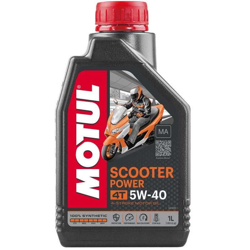 Масло для 4-х тактных двигателей 100% синтетическое MOTUL Scooter Power 4T SAE 5W40 MA 1л. 105958/832001