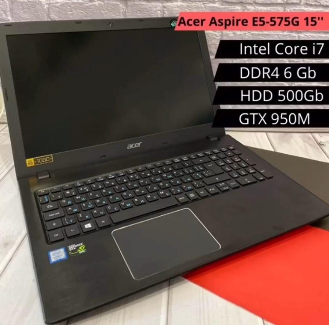 ИГРОВОЙ НОУТБУК ACER Aspire E5-575G15 (i7-7500U / DDR4 6GB / GTX 950M / HDD 500 GB)