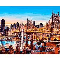 Картина раскраска по номерам на холсте 40*50см Babylon VP1245 Вечер в Нью-Йорке