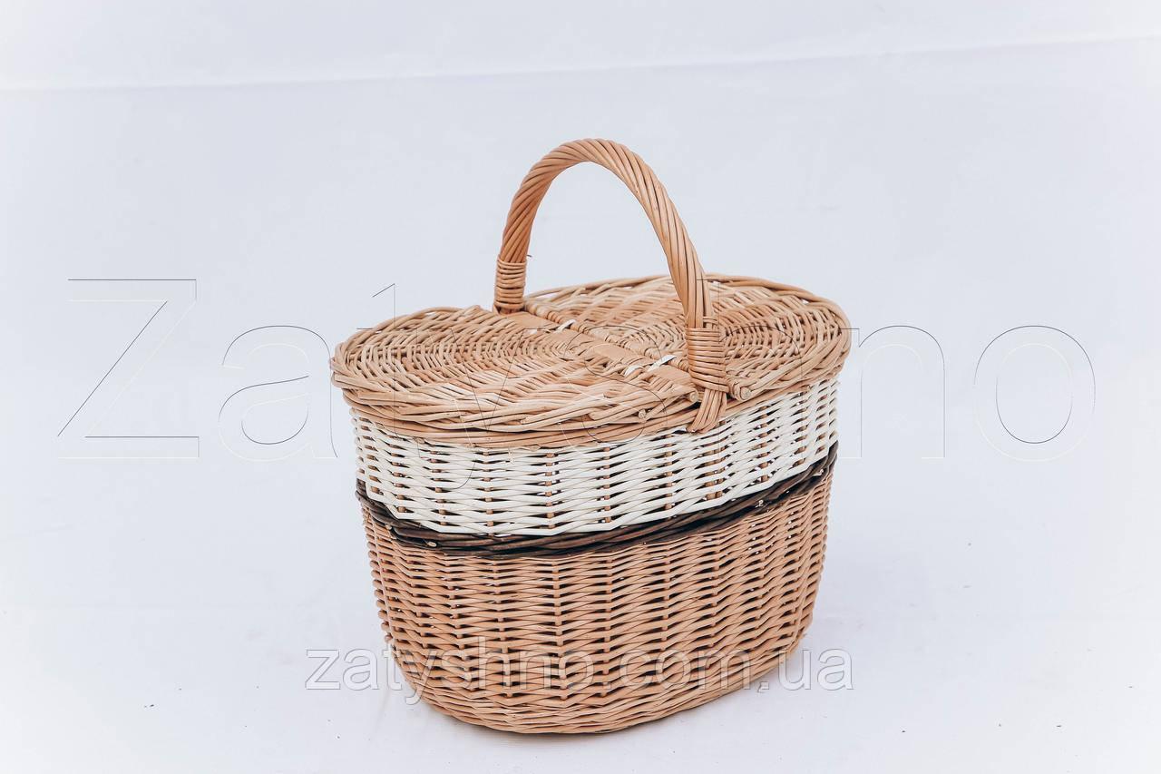 Плетеная корзина из лозы | декоративная корзина из лозы | корзини з лози