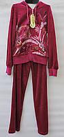 Велюровый костюм для девочки 5-11 лет модель - 9750