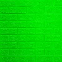 Самоклеющаяся декоративная 3D панель для стен под Кирпич зеленый