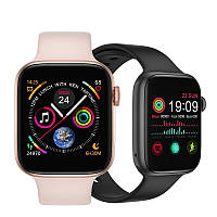 Смарт-часы Smart Watch IWO 12 series T500 с тонометром Gold/Pink