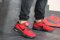 Мужские кроссовки текстильные в стиле Nike Air Max 2017 красные