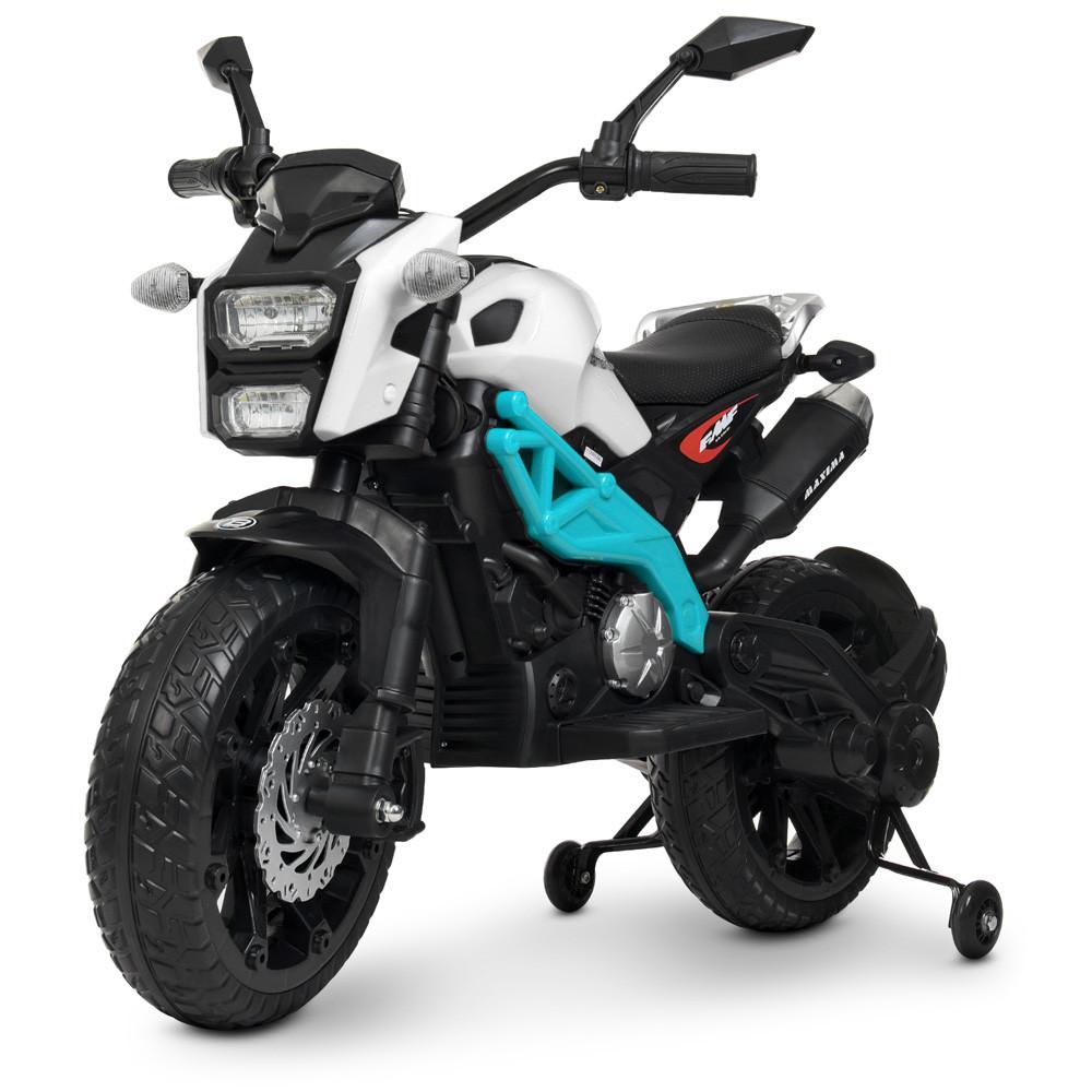 Детский электромобиль мотоцикл Bambi M 4267EL-1-4 Harley Davidson бело-синий