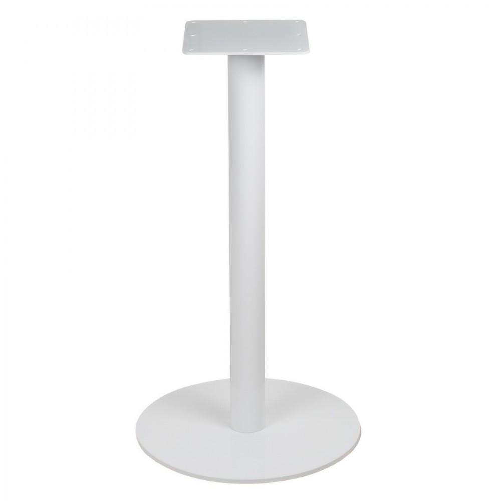 """Біла кругла опора для столу """"UNO"""" ніжки з металу для столика в кафе бар ресторан"""