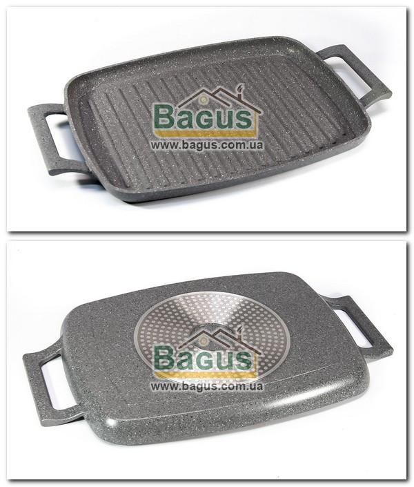 Сковорода-гриль 47х29см індукційна,антипригарне покриття граніт Maestro MR-4047