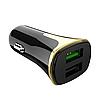 Автомобильное зарядное устройство Hoco Z31 Universe QC3.0 Micro USB 2 USB Port 3.4A Черный, фото 2