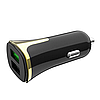 Автомобильное зарядное устройство Hoco Z31 Universe QC3.0 Micro USB 2 USB Port 3.4A Черный, фото 3