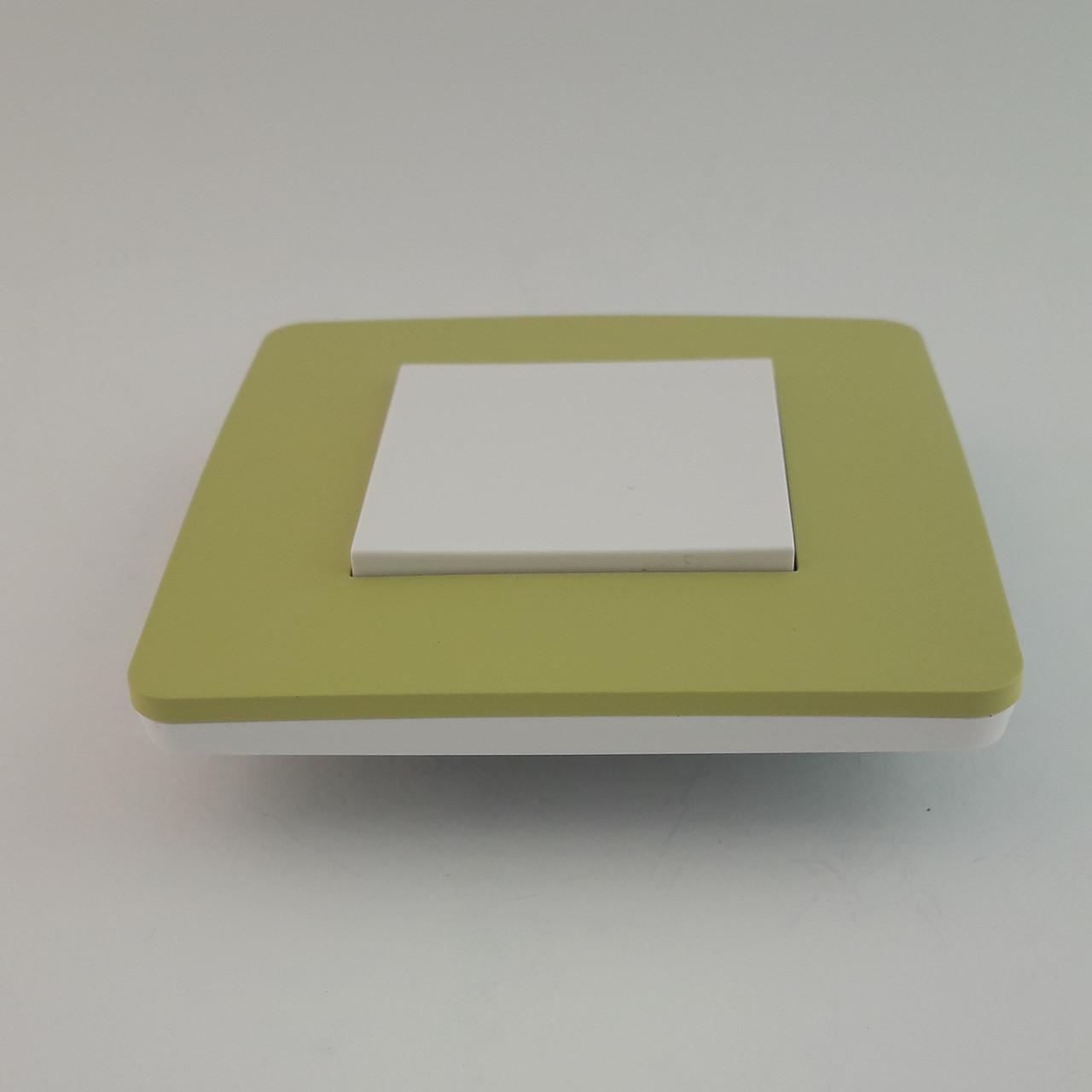 Рамка 2 постовая Studio Color, зеленое яблоко/белый, 2х2 модуля