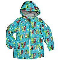Куртка для девочки весна-осень 92-98 рост мембранная ткань голубая