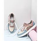 Кожаные женские кроссовки 36- 41