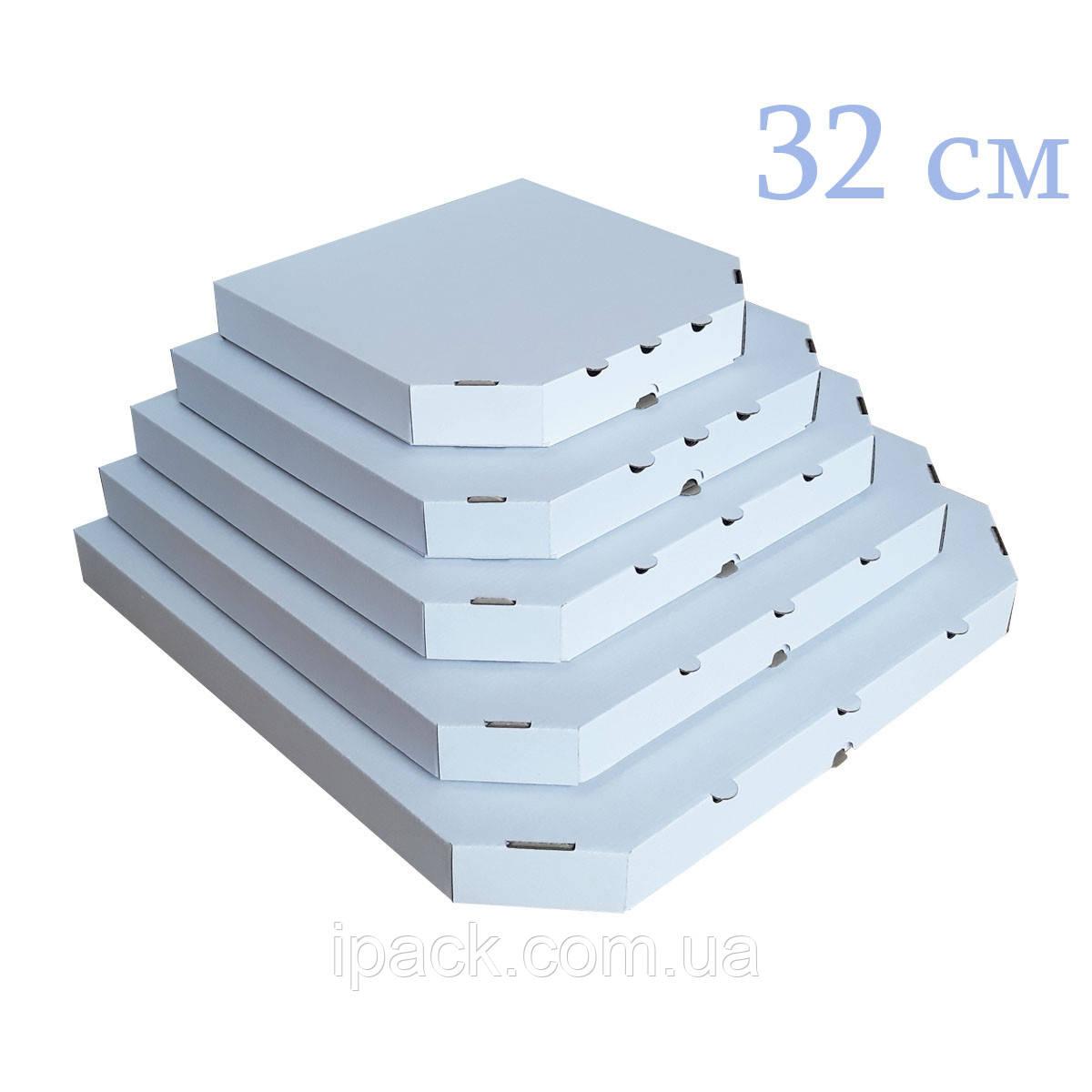 Коробка для пиццы, 32 см белая, 320*320*35, мм
