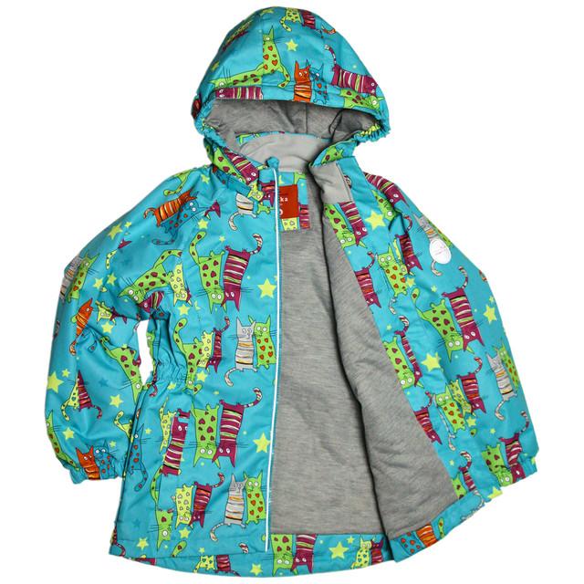 демисезонная термокуртка для девочки