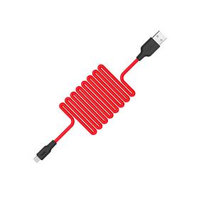 Зарядный кабель Data Cable Hoco X21+ Silicone Micro USB 1m Красный