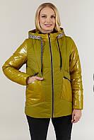 Куртка Карри 48-58 весна горчица