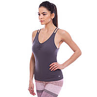 Майка для фитнеса и йоги VSX, полиэстер, S-XL-40-80кг., серый (BX1095-(gr))