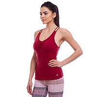 Майка для фитнеса и йоги VSX, полиэстер, S-XL-40-80кг., бордовый (BX1095-(br))