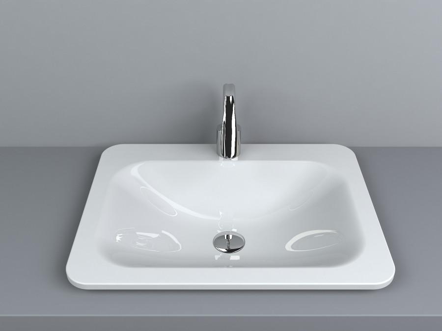 Раковина для ванной Miraggio California (матовый или глянец/ 614*456*120 мм)