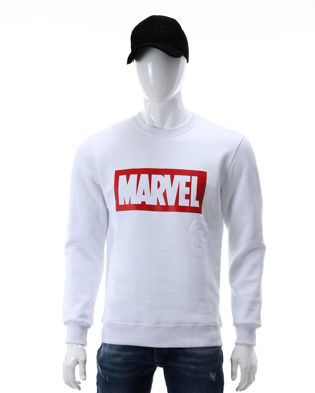 Свитшот осень-зима белый MARVEL с лого WHT L(Р) 18-502-003