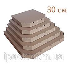 Коробка для пиццы, 30 см бурая, 300*300*35, мм