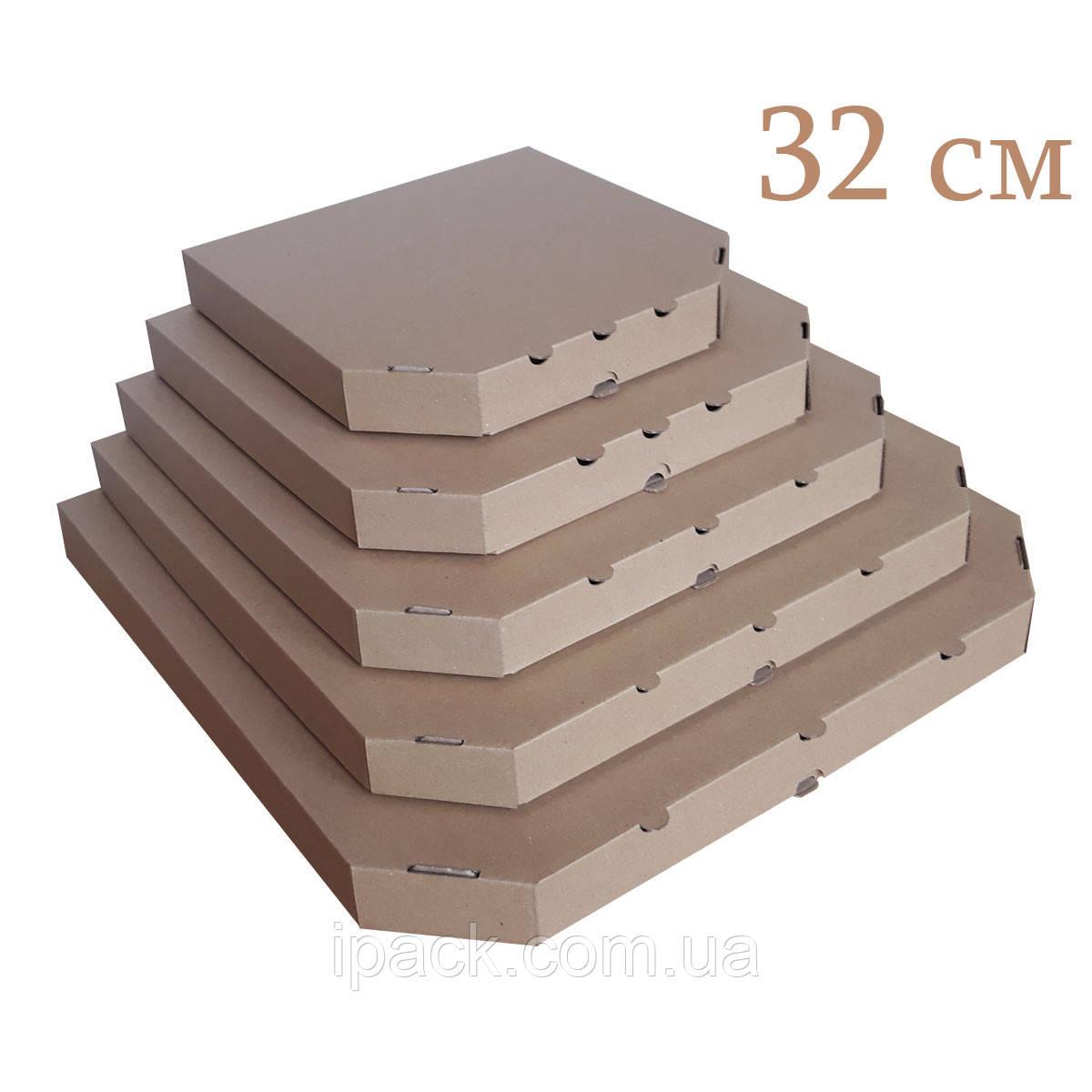Коробка для пиццы, 32 см бурая, 320*320*35, мм