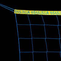 """Сетка для волейбола «БРЕНД 15» с надписями """"S4S.in.ua"""", сине-желтая"""
