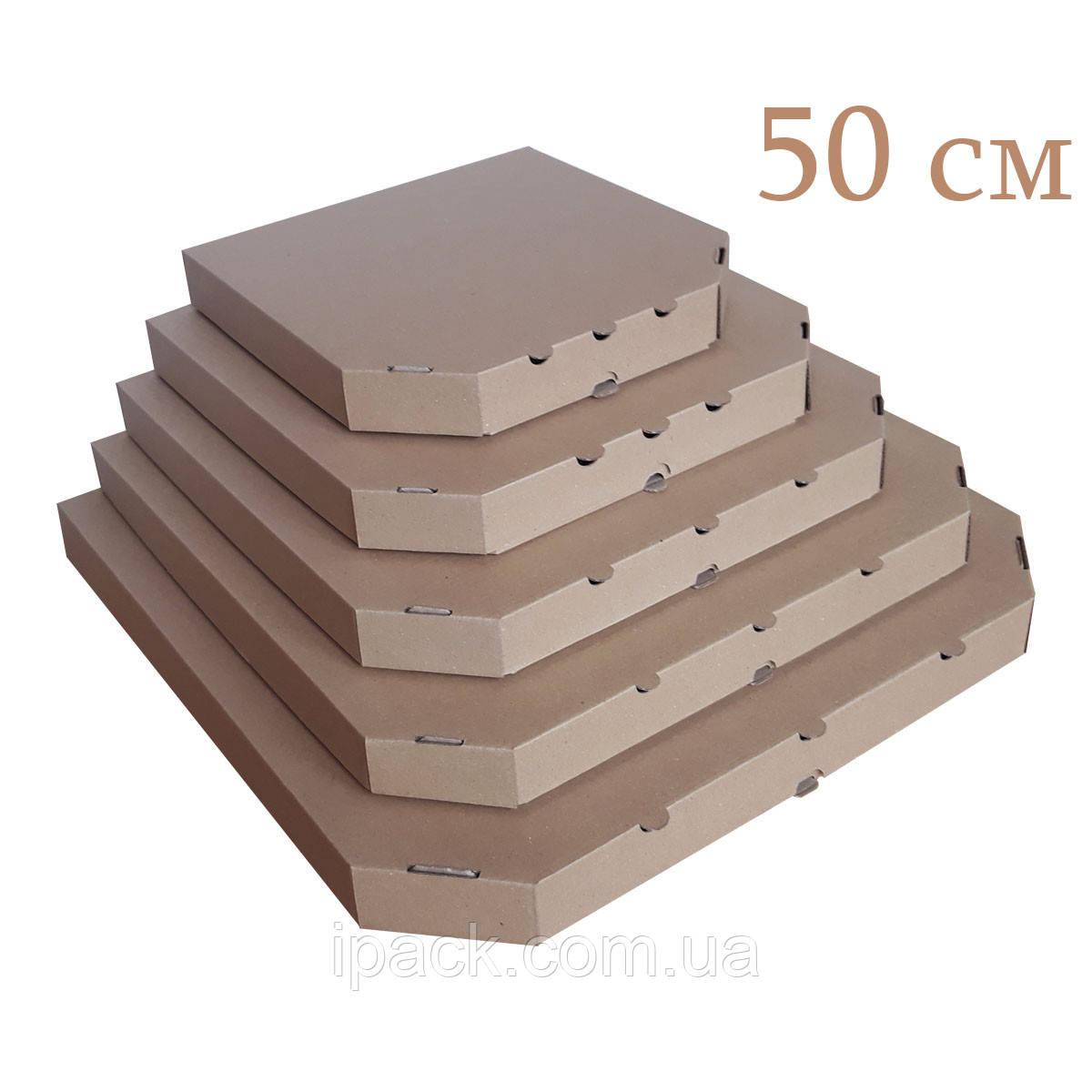Коробка для пиццы, 50 см бурая, 500*500*40, мм