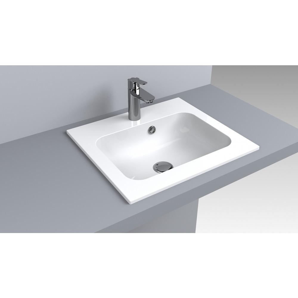 Раковина для ванной Miraggio Della 600 (матовый или глянец/ 60*45*13 см)