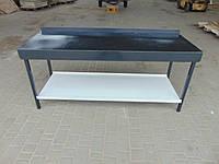 Стол производственный с полкой 600х850х1250мм, фото 1