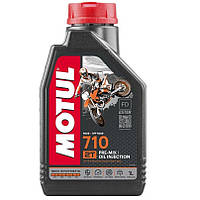 Масло для 2-х тактных двигателей 100% синтетическое эстеровое MOTUL 710 2T 1л. 104034/837311