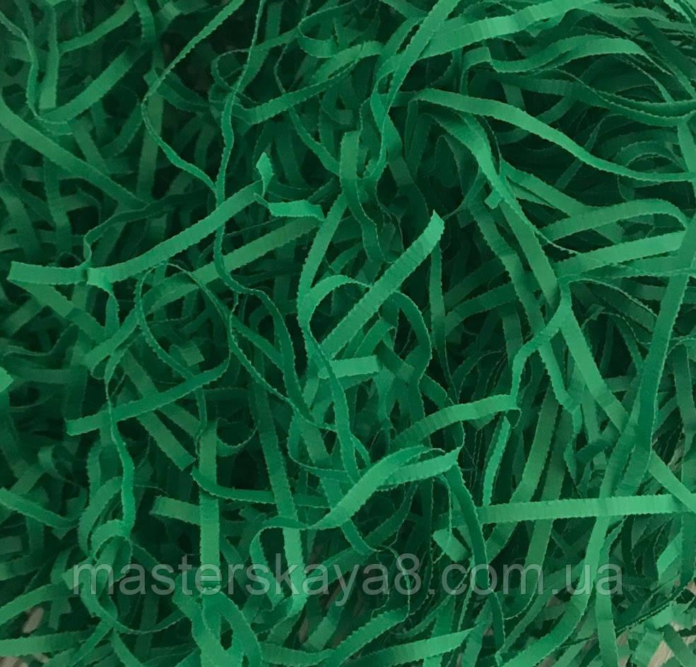 ОПТ 500 грамм Бумажная стружка 3мм Зеленая