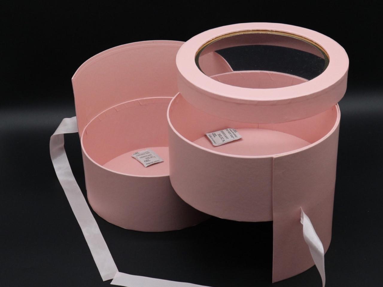 Коробки для цветов органайзер. Цвет розовый. 20х17см