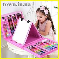 Набор для детского творчества в чемодане | набор канцелярских товаров для рисования с мольбертом