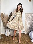 Женское платье в горошек с рюшами (3 цвета), фото 6