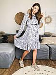 Женское платье в горошек с рюшами (3 цвета), фото 5