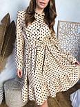 Женское платье в горошек с рюшами (3 цвета), фото 7