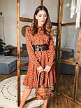 Женское платье в горошек с рюшами (3 цвета), фото 8